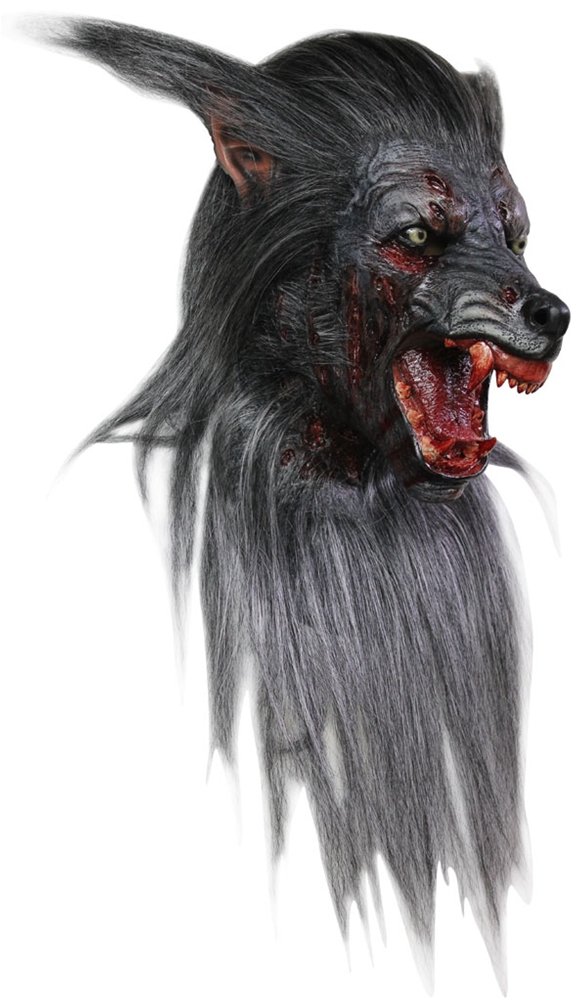 Black Wolf Deluxe Overhead Latex Mask