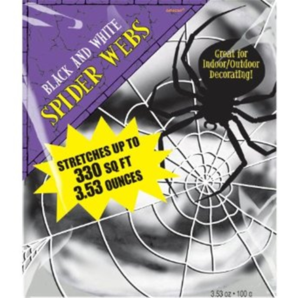 Black and White Stretchy Spider Web