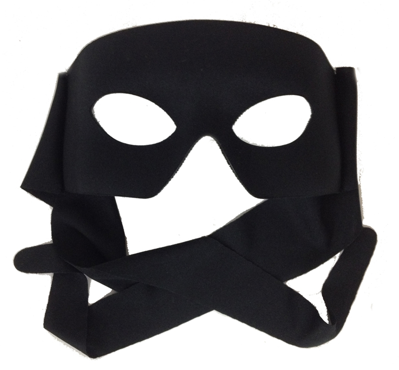 Black Verona Mask With Cloth Tie Ships For Best Halloween Costumes Costume