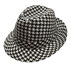 Houndstooth-Black-and-White-Fedora-Hat