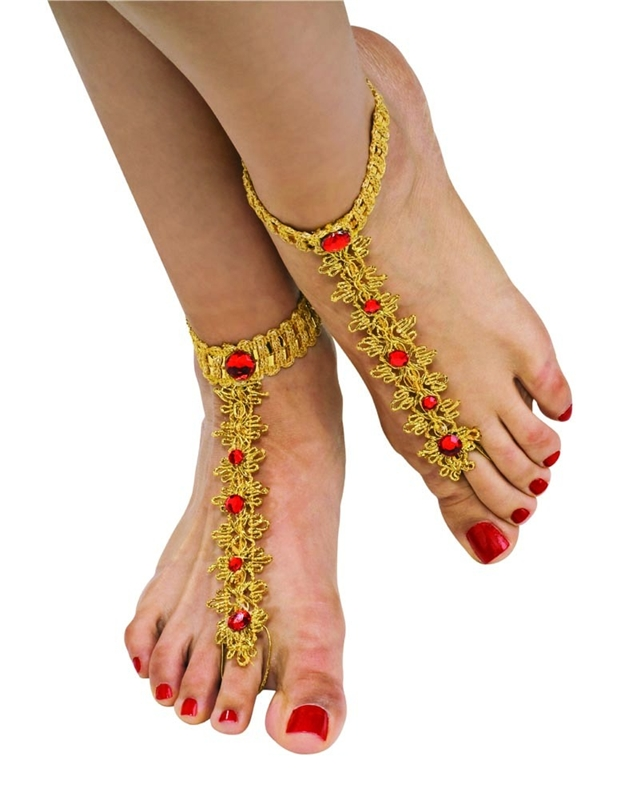 Bollywood Foot Decorations
