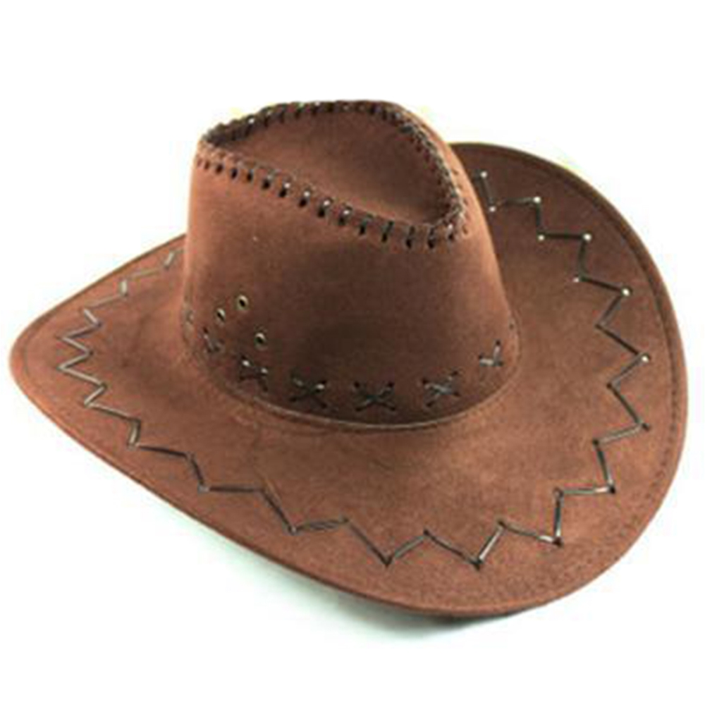 Image of Brown Cowboy Hat Faux Suede