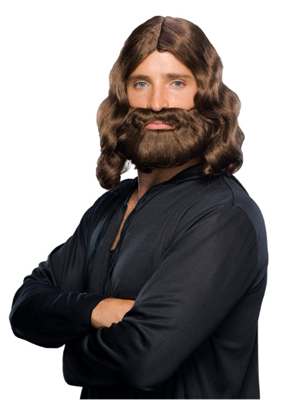 Brown Biblical Wig and Beard Set