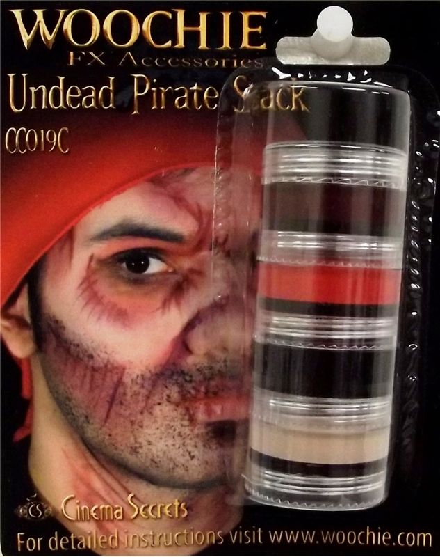 Undead Pirate Makeup Stack