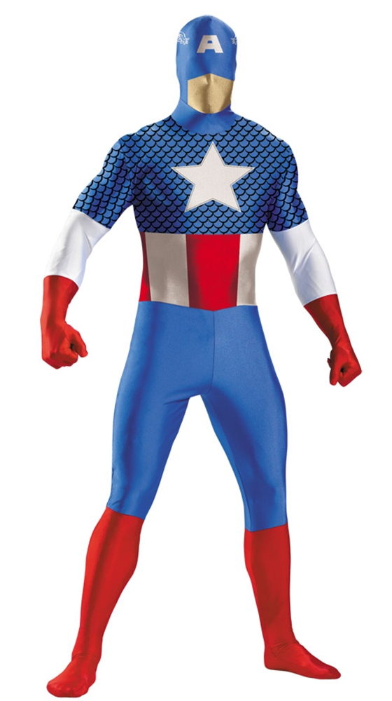 Marvel Captain American Deluxe Bodysuit Adult Costume