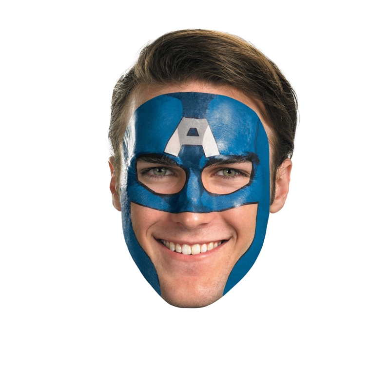 Image of Captain America Tattoo Face Mask