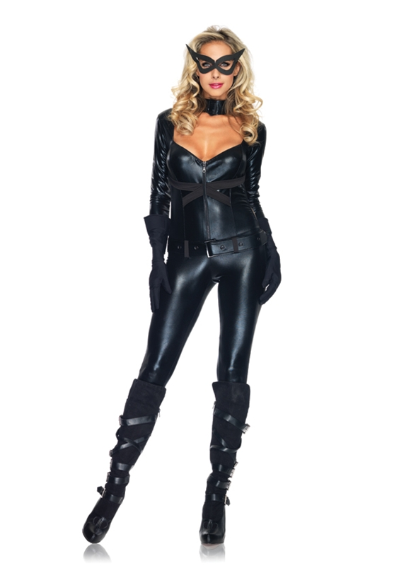 Sexy Cat Girl Jumpsuit Adult Womens Costume