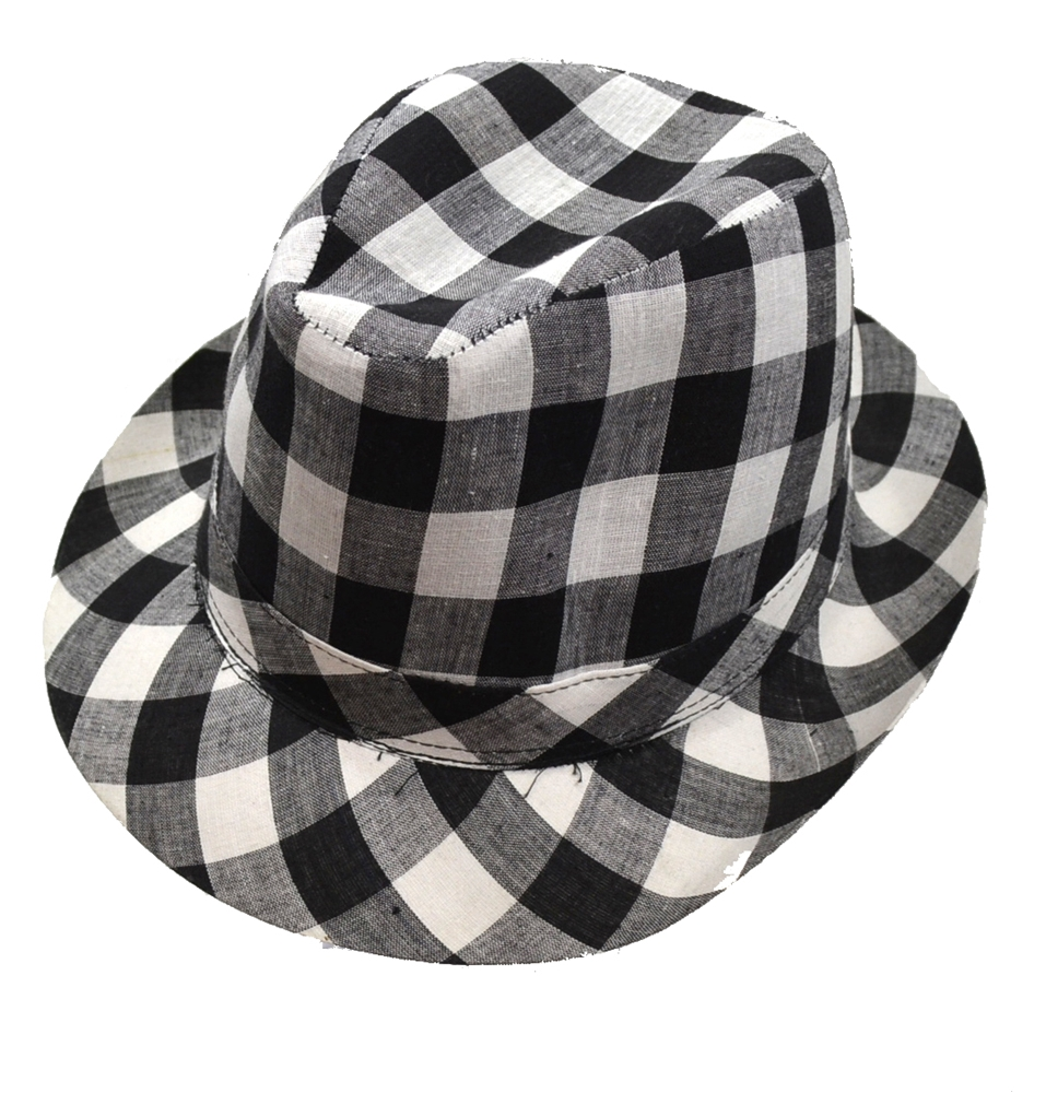 Checkered Fedora Adult Hat