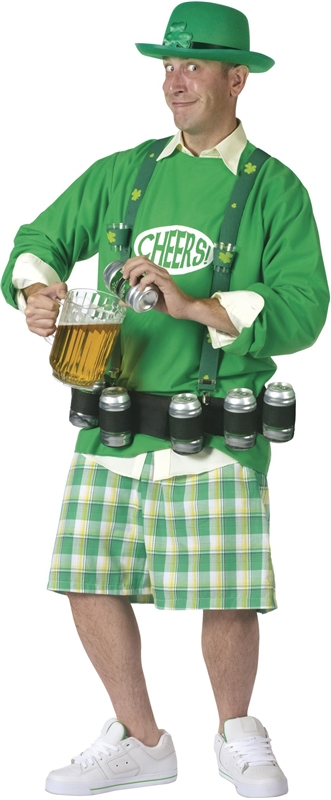 Cheers N Beers Adult Men Costume