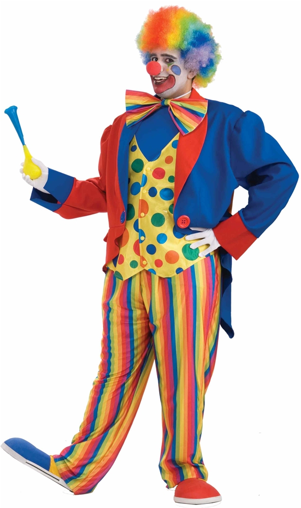 Clown Plus Size Adult Mens Costume