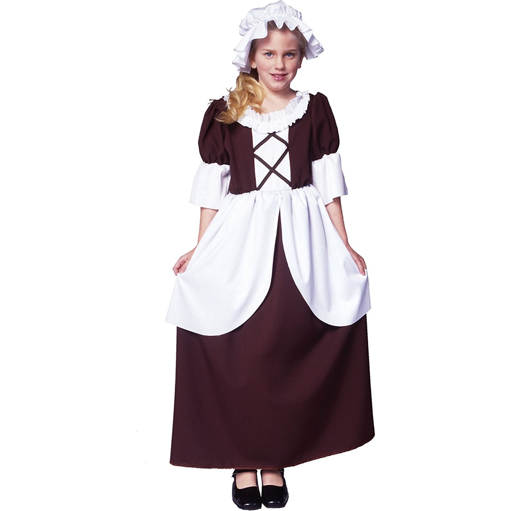 Colonial girl child costume 025843 for 9 year old boy halloween costume ideas