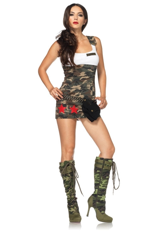 Camo Combat Cutie Adult Womens Costume