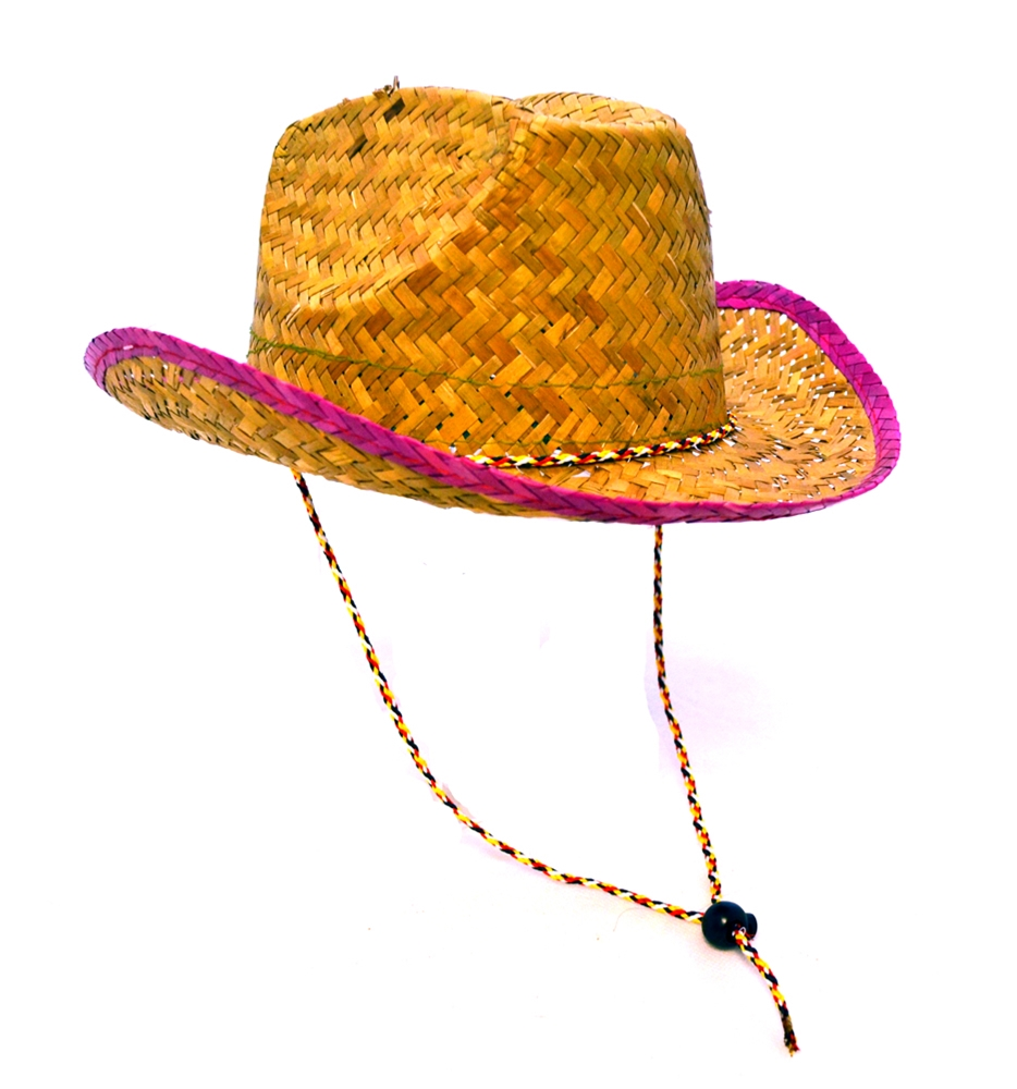 Cowboy Straw Hat with Head Strap