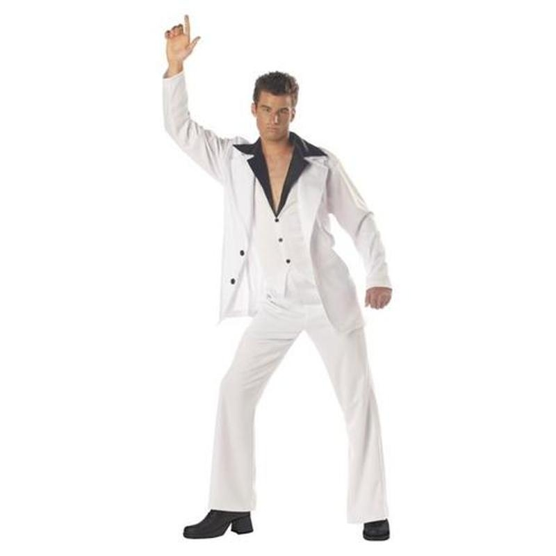 Disco Man White Suit Plus Size Adult Mens Costume 01084