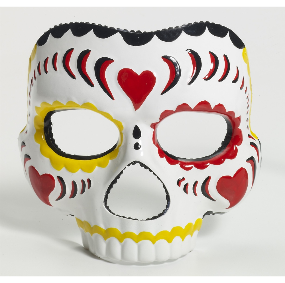 Image of Day of the Dead Female Costume Adult Mask