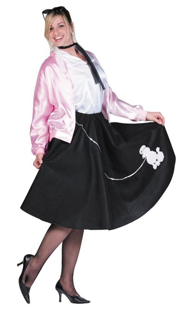 Deluxe 50s Poodle Skirt Adult Costume