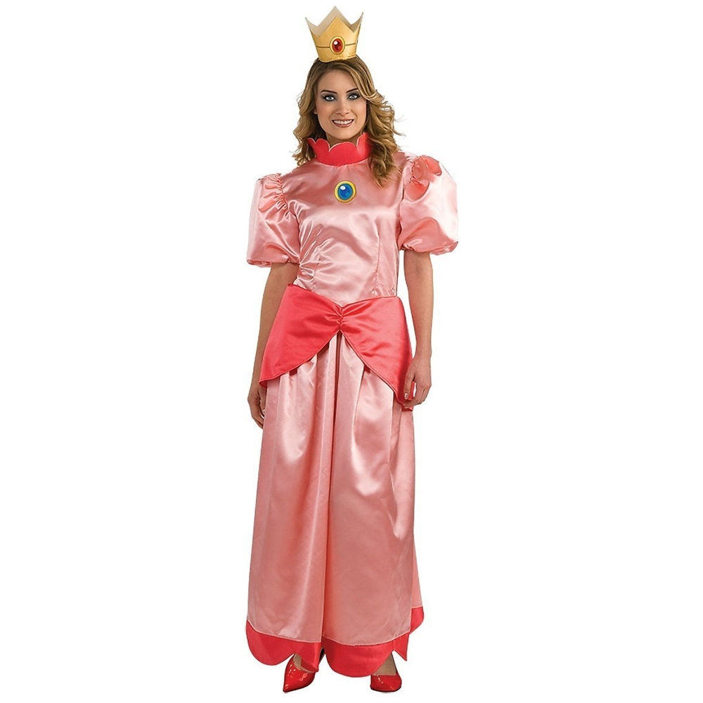 Deluxe Mario Brothers Princess Adult Womens Costume