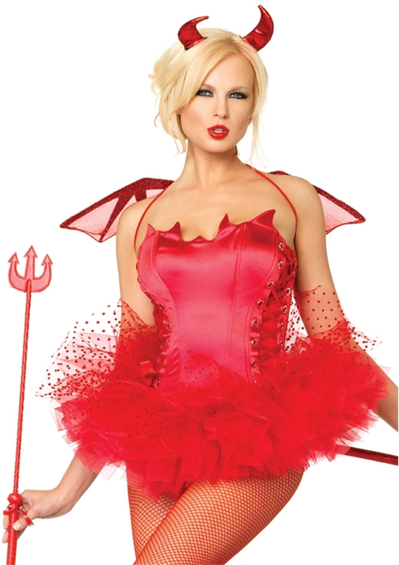Naughty Devil Adult Womens Bustier
