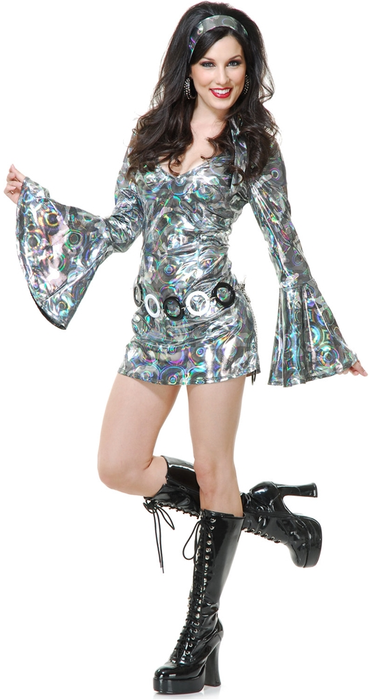 Silver Disco Queen Adult Womens Costume