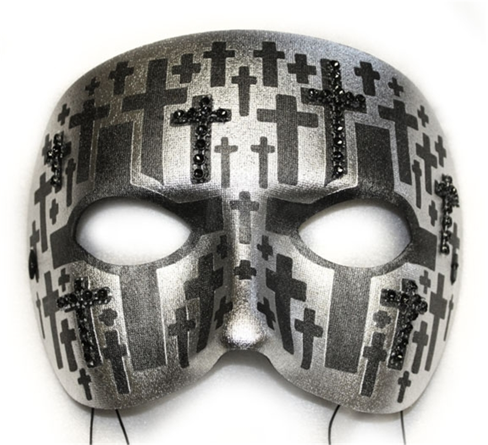 Double Cross Masquerade Mask
