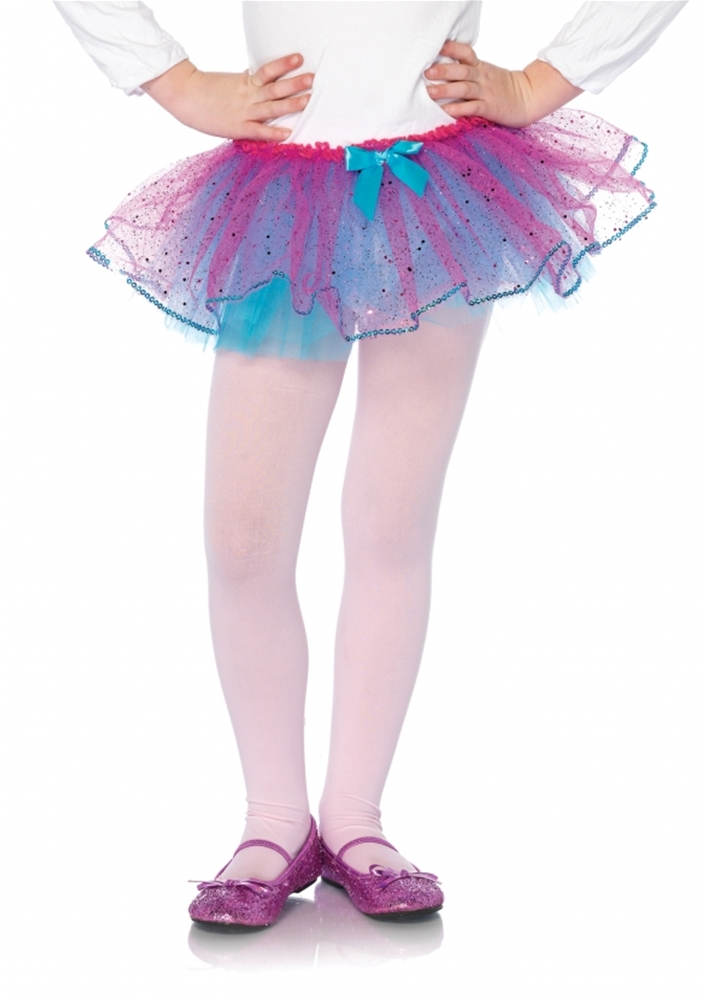 Image of Duel Color Glitter Bulle Petticoat With Sequin Trim