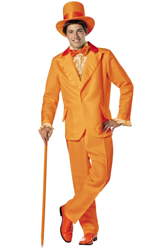 Dumb and Dumber Lloyd Orange Tuxedo Adult Mens Costume