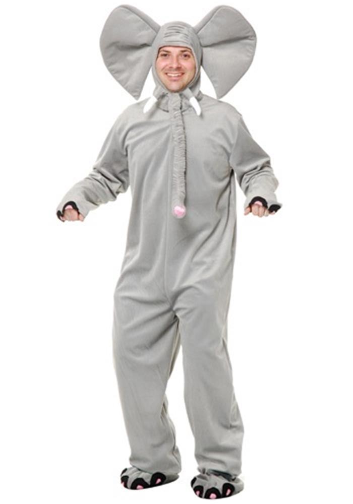 Grey Elephant Adult Costume