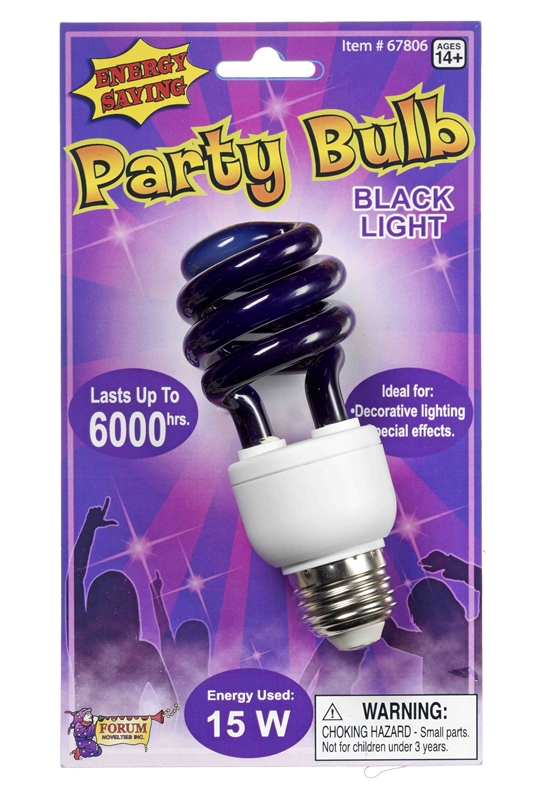 Energy Efficient Black Light Bulb