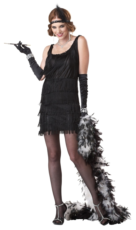 Black Fashion Flapper Adult Womens Costume