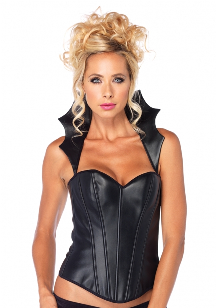 Faux Leather Vampire Corset