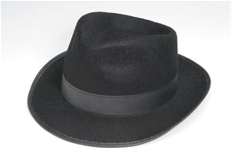Black Fedora Adult Hat