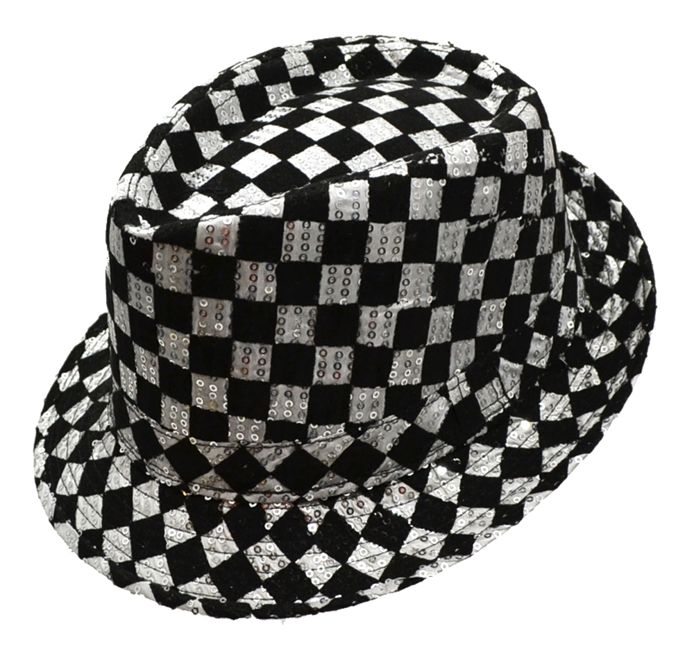 Checkered Sequin Fedora