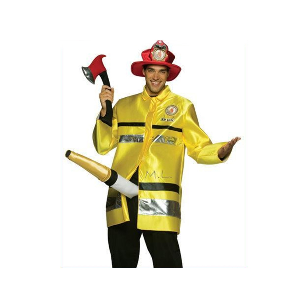 Fireman With Hose Adult Costume