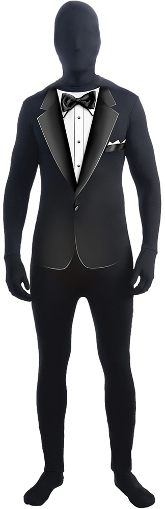 Formal Suit With Hooded Mask Adult Costume