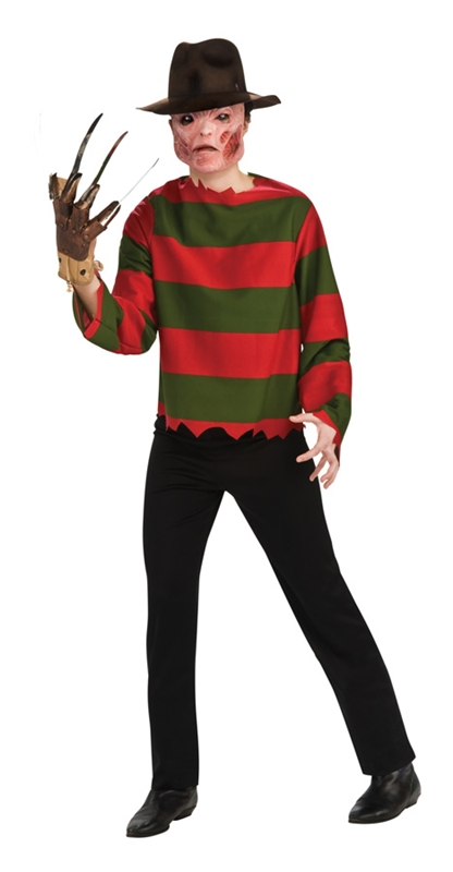 Tweet  sc 1 st  Trendy Halloween & Freddy Krueger Shirt And Mask Teen Costume - Halloween Costume ...