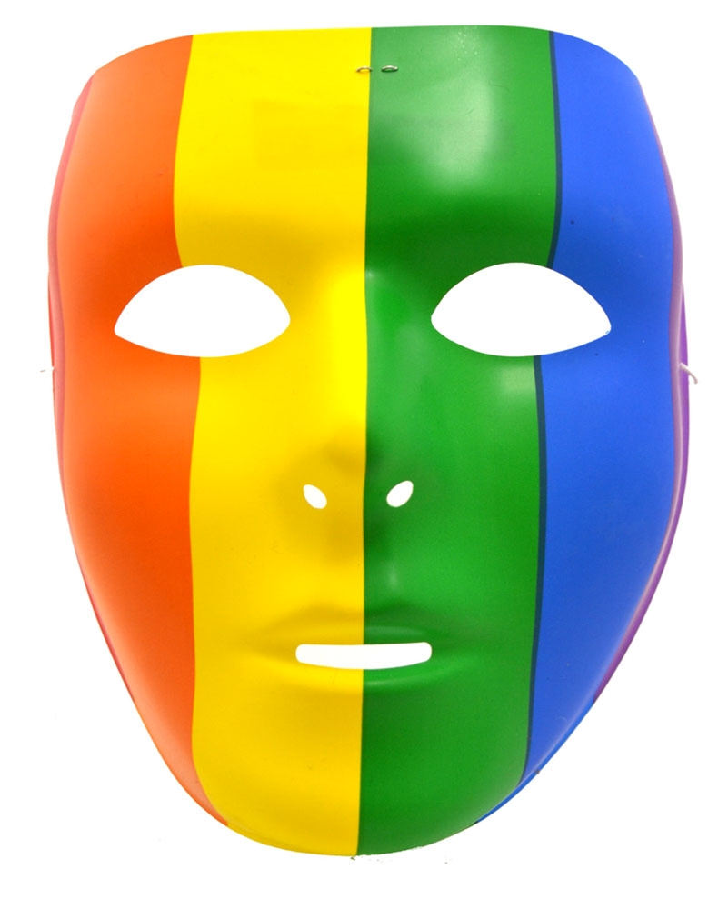 Full Face Rainbow Mask