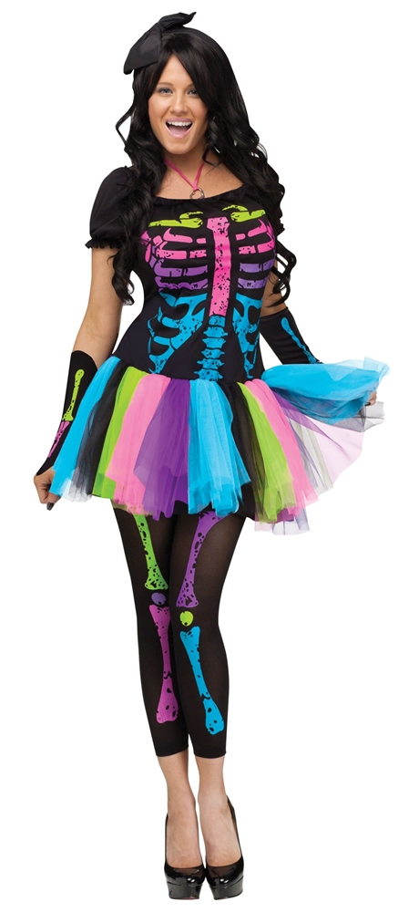 [Funky Punk Bones Adult Womens Costume] (Funky Punk Bones Adult Costumes)