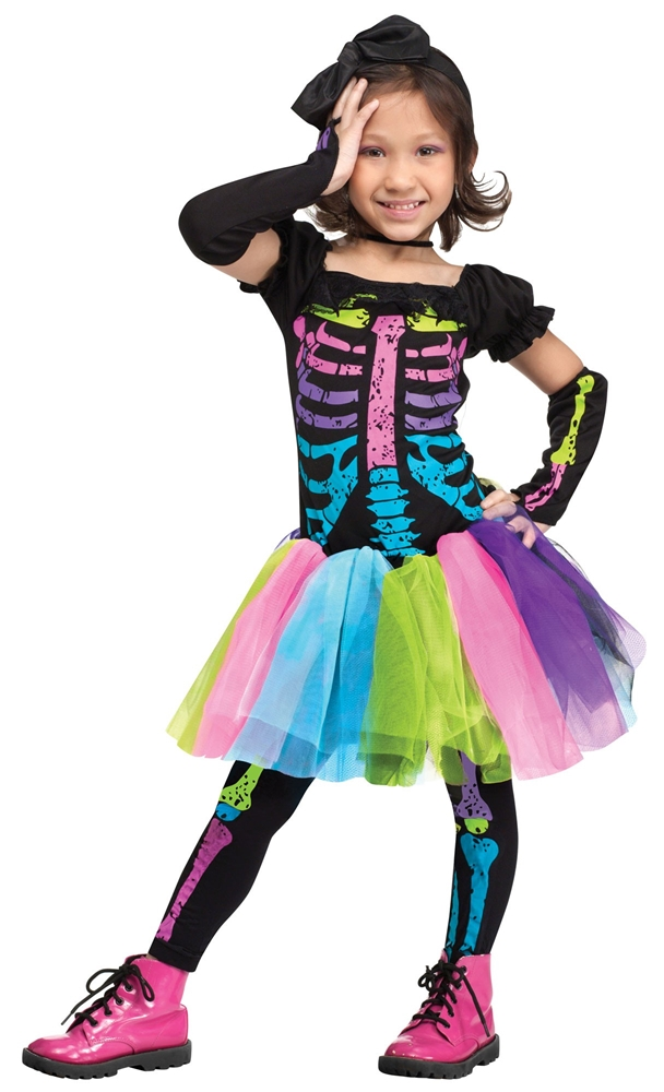 Funky Punk Bones Skeleton Toddler Costume by Fun World