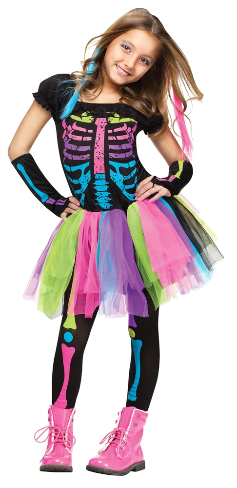 Funky Punk Bones Skeleton Child Costume