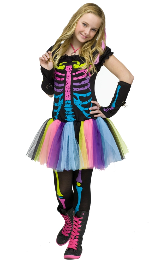 Funky Punk Bones Skeleton Teen Costume by Fun World