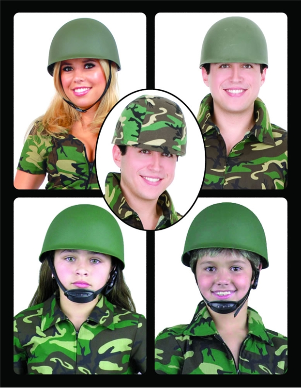 G I Army Helmet Green by Charades