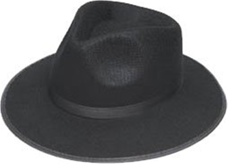 Black Ganster Adult Hat