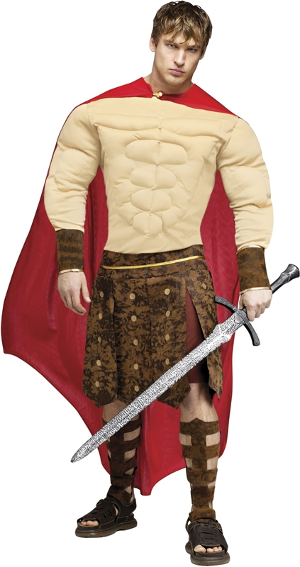 Gladiator Muscle Chest Adult Costume (Muscle Chest Adult Costume)