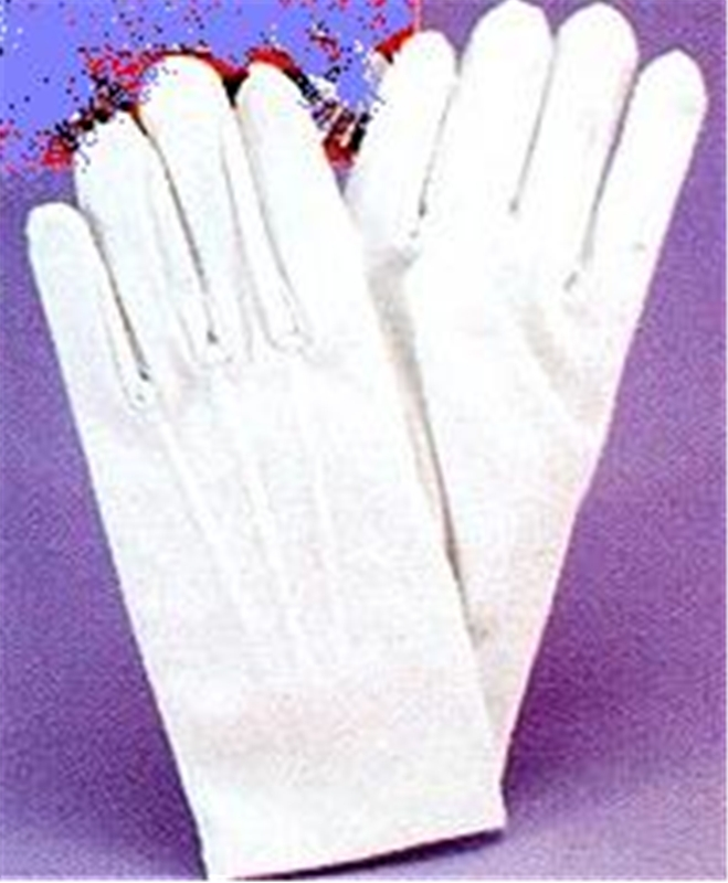 Glove White With Snaps