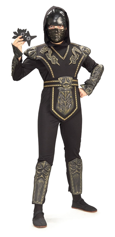 Gold Dragon Warrior Ninja Child Boys Costume