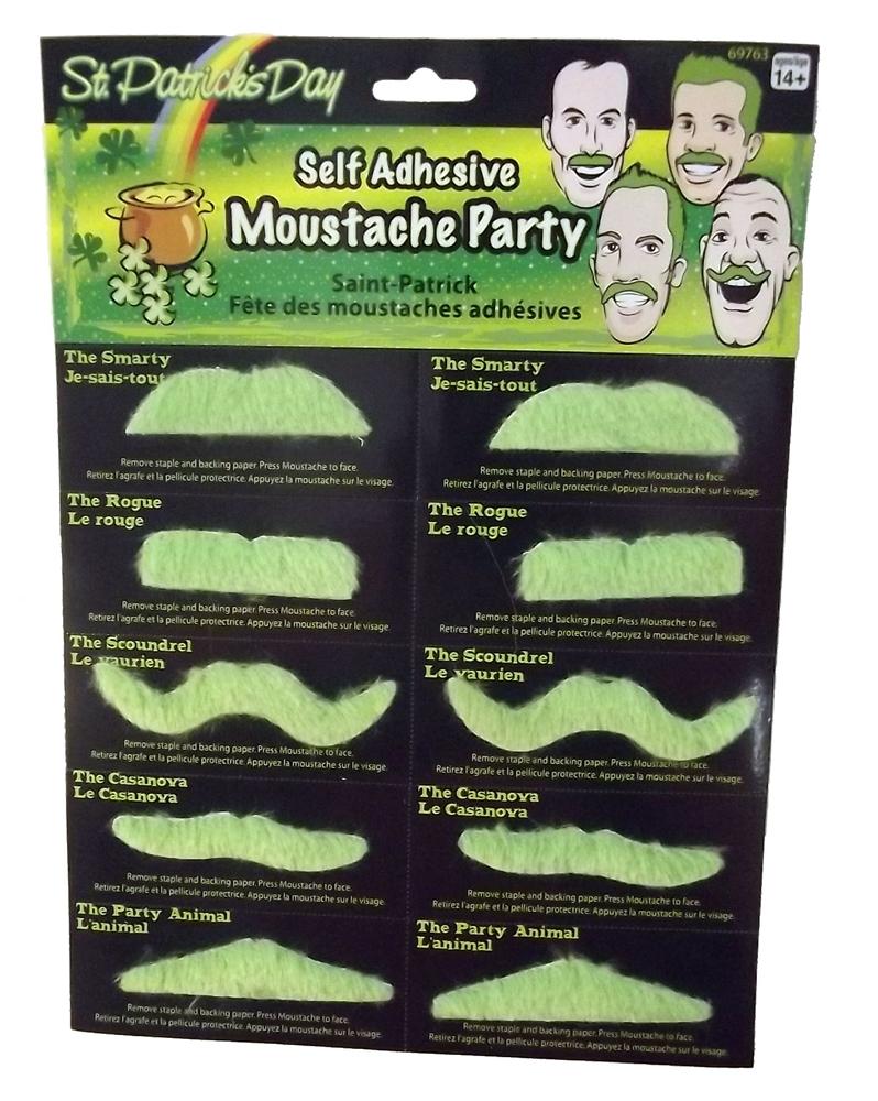 St. Patrick Day Mustache Party Set