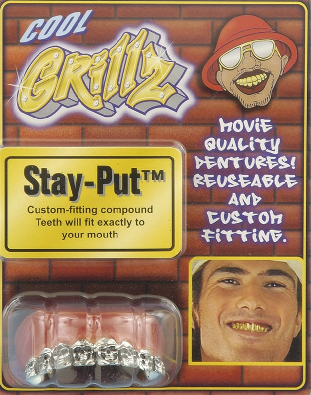 Grillz Teeth-Silver Skulls