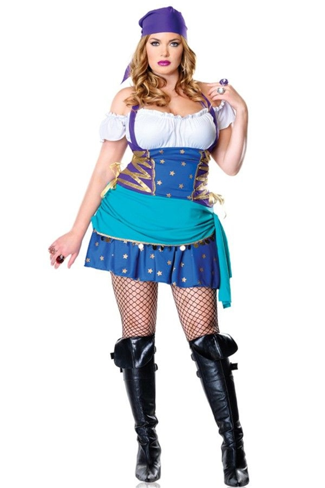 Gypsy Princess Adult Womens Plus Size Costume