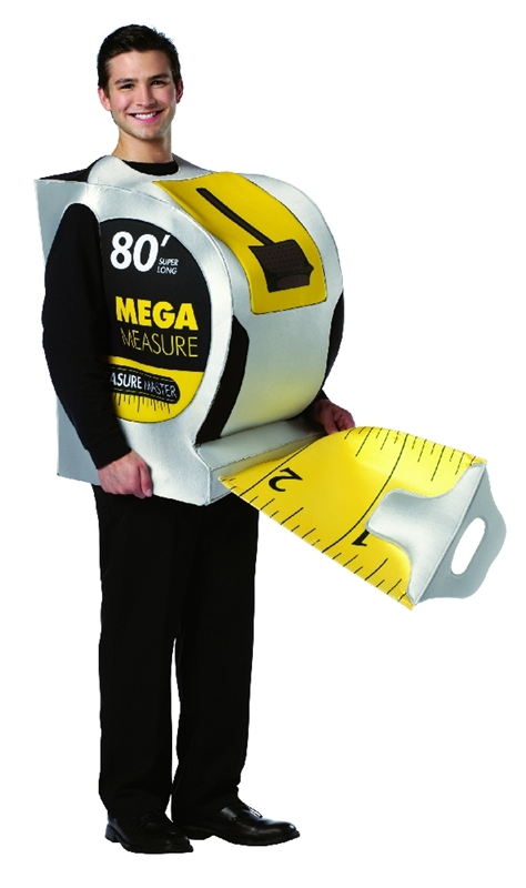 Hard Wear Tape Measure Adult Costume