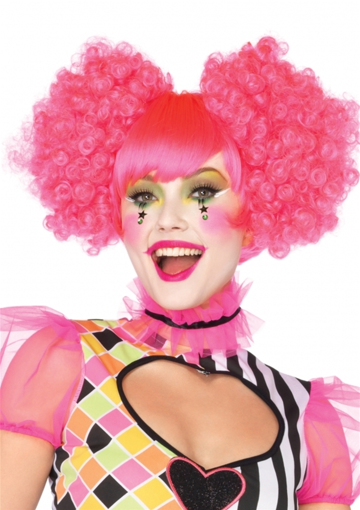 Harlequin Neon Curly Wig